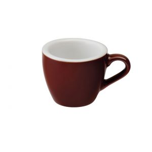 Taza Para Café Espresso Marrón 80ml Egg Loveramic