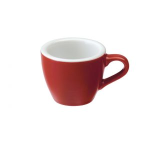 Taza Para Café Espresso Roja 80ml Egg Loveramic