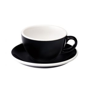Taza Para Capuccino Negra 200ml Egg Loveramics Coffeetech