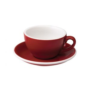 Taza Para Capuccino Roja 200ml Egg Loveramics Coffeetech