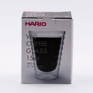 Vaso de Cristal doble Pared para Café 450ml Hario Coffeetech