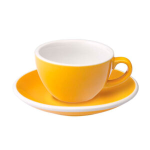 Taza Flat White Amarilla 150ml Loveramics Coffeetech