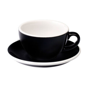 Taza Flat White Negra 150ml Loveramics