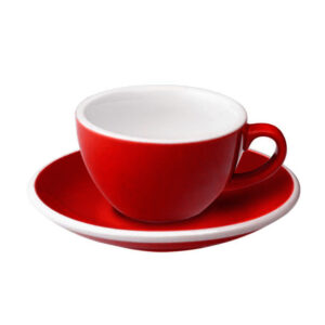 Taza Flat White Roja 150ml Loveramics Coffeetech